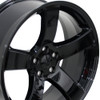 "20"" Dodge Charger SRT 8 Challenger SRT8 Chrysler 300 Magnum Wheels Black Set of 4 20x8 Rims Hollander 2360"