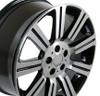 "22"" Fits Land or Range Rover  Stormer Wheel Machined Black Set of 4 22x10"" Rims Hollander 72200"