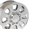 "18"" Fits Chevrolet GMC Sierra 2500 3500 Wheel Bolt Pattern 8x180 Chrome Set of 4 18x8"""
