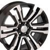 "22"" GMC Denali Chevy 1500 Wheels Rims Black Machine Face Set of 4 22x9"""