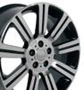 """20"""" Fits Land or Range Rover Stormer Wheel Machined Black Set of 4 20x9.5"""" Hollander 72200"""