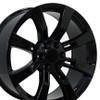 "22"" Fits Cadillac Escalade Chevy GMC Tahoe Silverado Sierra Yukon Wheel Gloss Black 22x9"" Rim Hollander # 5409"