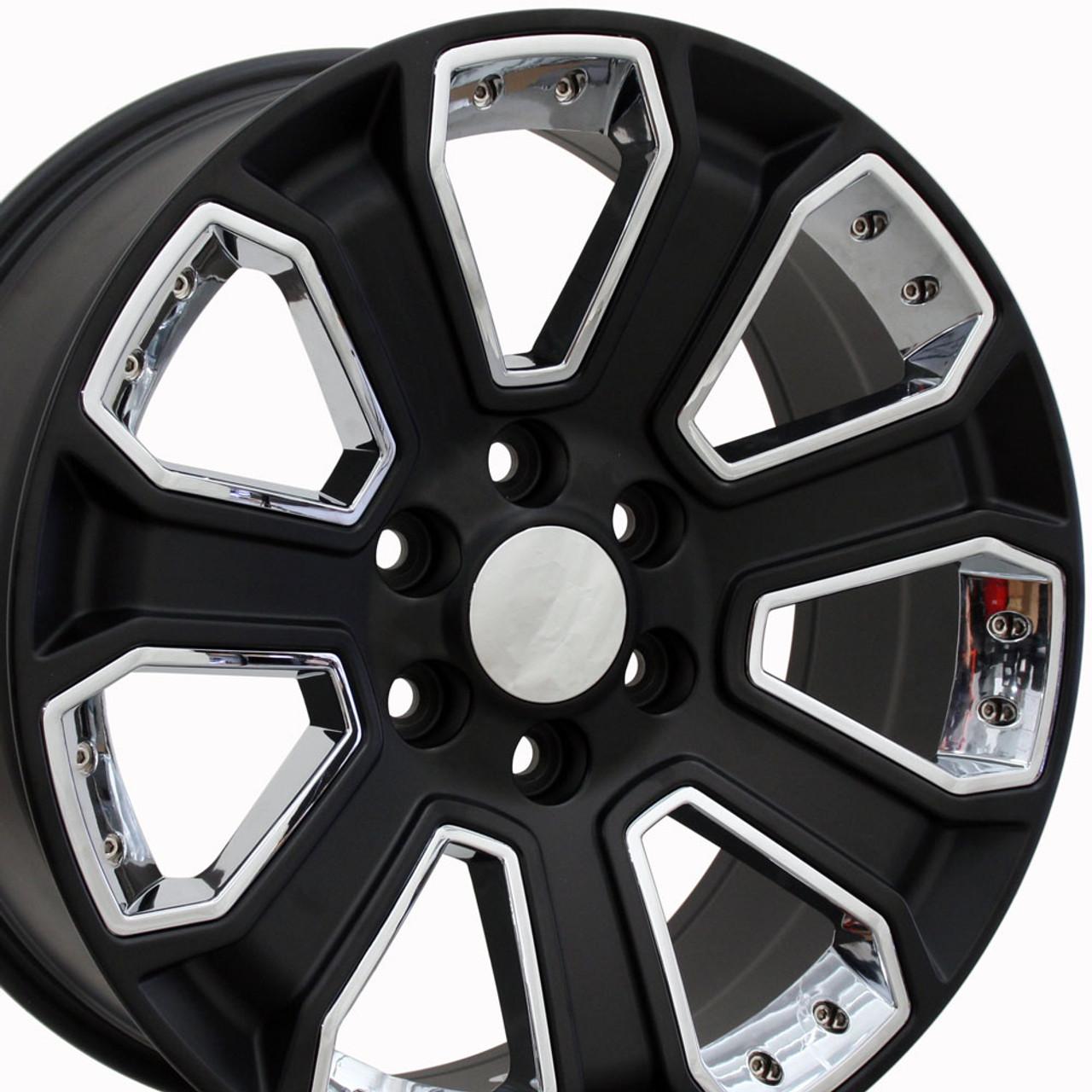 "22"" GMC Denali Style Wheels Yukon Sierra Cadillac Fits Chevrolet"