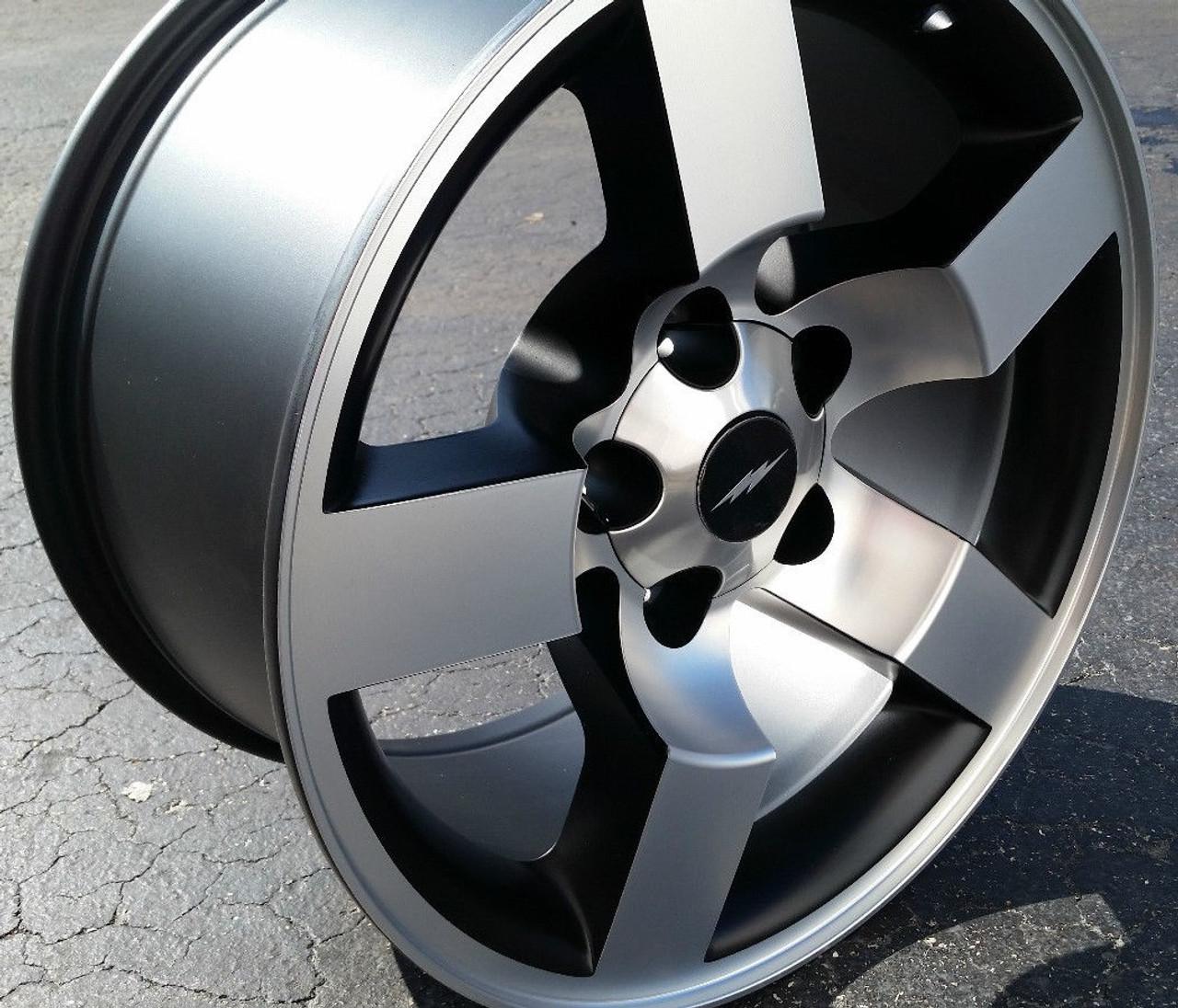 18 Ford Lightning Wheels F150 Svt Style Rare Machined Black Set Of 4 18x9