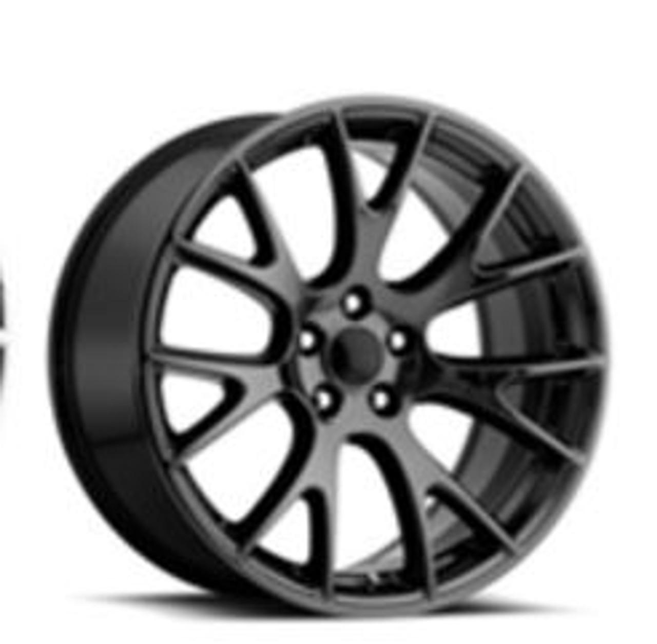 Blackchromehellcat on Dodge Durango On 22s