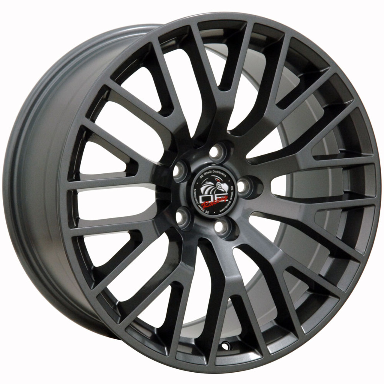 Fits Ford  Mustang Gt Wheels Gunmetal Set Of  X