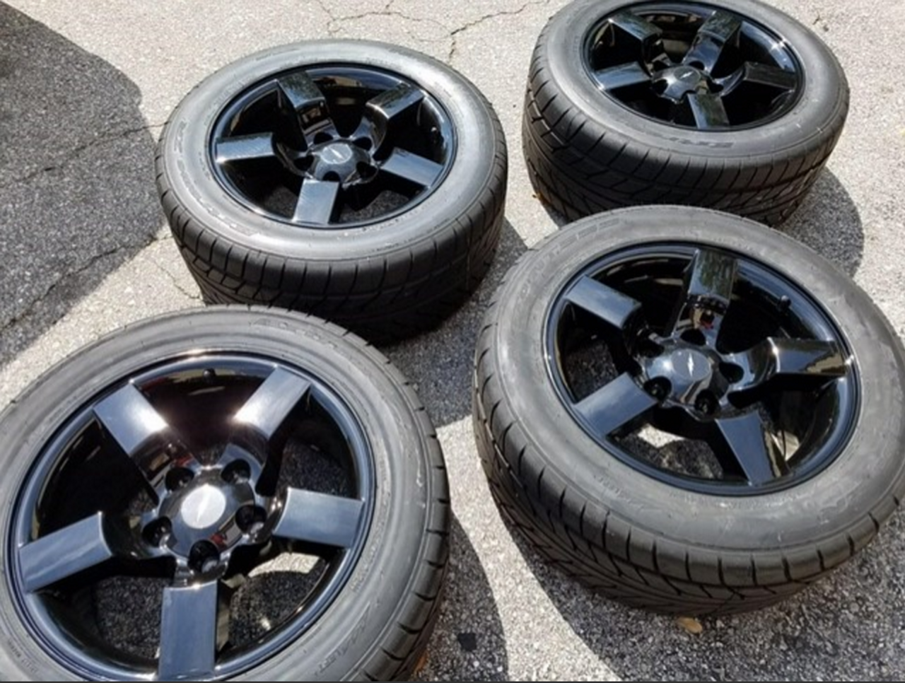18 Ford Lightning Wheels With Tires F150 Svt Style Gloss Black Set Of 4 18x9