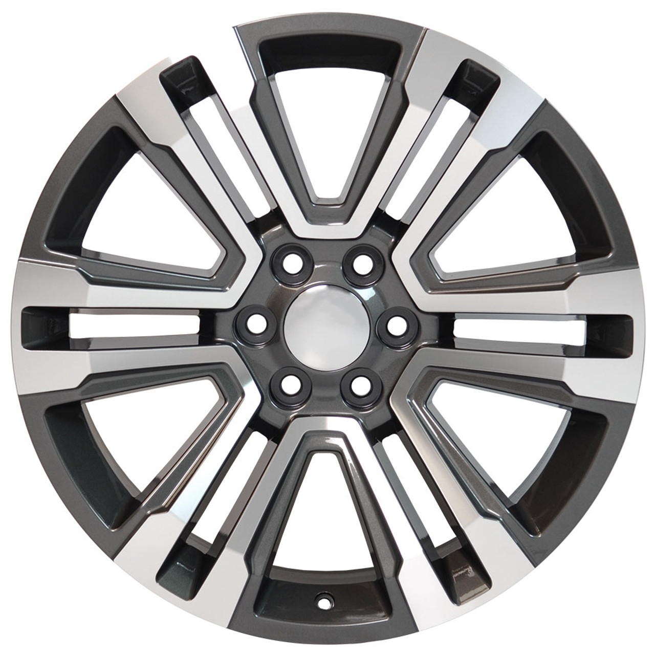 22 New 2018 Fits Gmc Denali Wheels Chevy 1500 Machined Silver Face