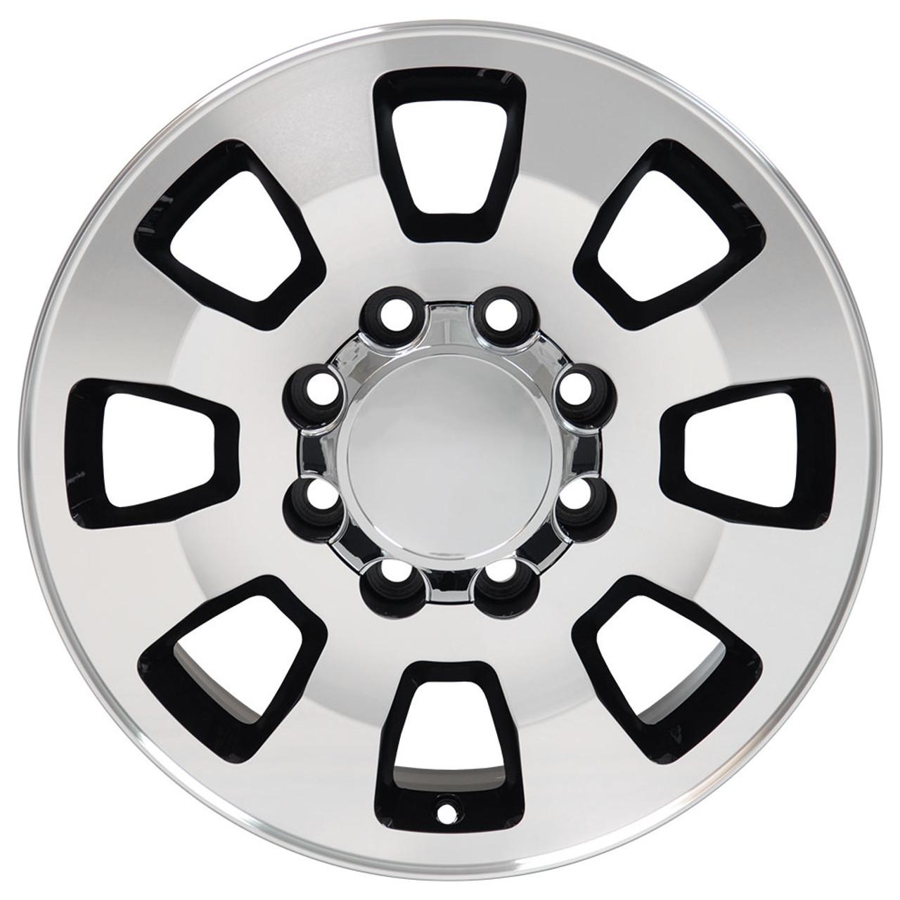 wheel face silverado chevrolet set wheels accessories black of bmf machined fits gmc rims replica