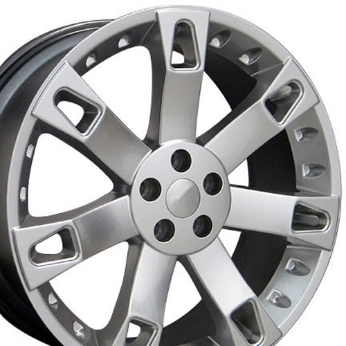 """22"""" Fits Land or Range Rover Overfinch Wheels Hyper Silver Set of 4 22x9.5"""" Rims"""