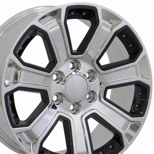 black tires replicas gmc edges milled chevy index wheels and with gloss replica