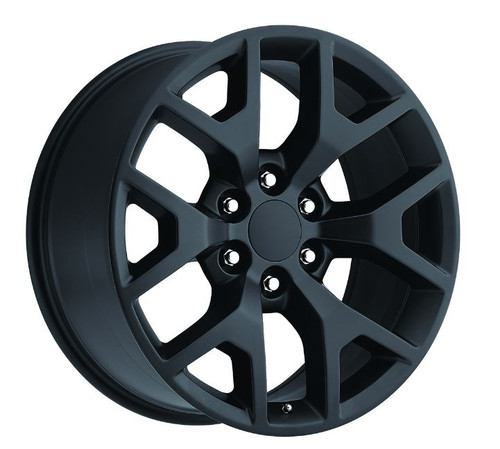 "20"" 2014 GMC Sierra Chevy 1500 Wheels Rims Satin/Flat Black 20x9"" Set of 4 - Hollander: 5656"
