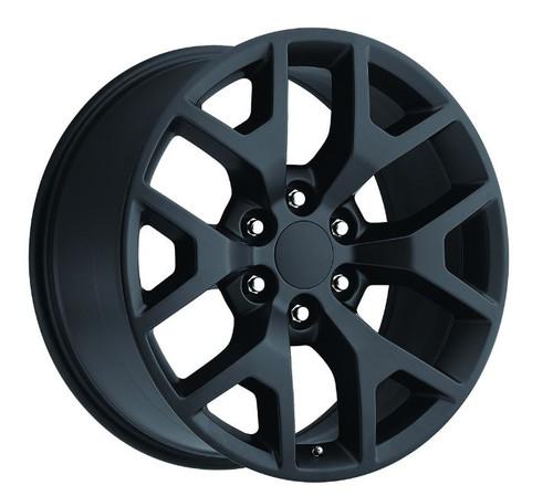 "20"" 2014 GMC Sierra Chevy 1500 Wheels Rims Tire Pkg Satin/Flat Black Set of 4 20x9"" - Hollander: 5656"