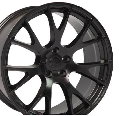 "Hellcat Style 20"" Wheels Matte Black Dodge Challenger Charger Magnum Chrysler 300 20x9"" Rims"