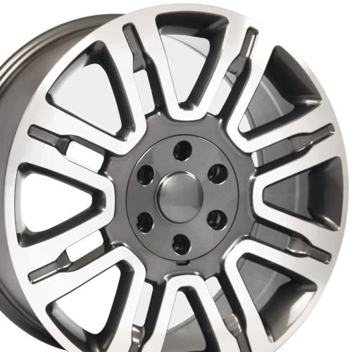 """20"""" Fits Ford F 150 Expedition Lincoln Navigator Wheels Rims Gunmetal w/Machine Face Set of 4 20x8.5"""" Rims Hollander 3788"""