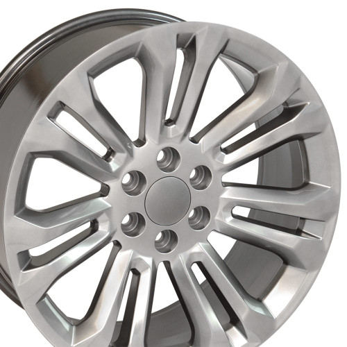 "22"" Hyper Black 2015 GMC 1500 Sierra Tahoe Chevy Silverado Wheels Set of 4 22x9 Rims"