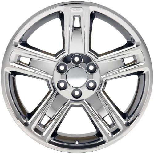 "22"" Fits Chevrolet 2015 Silverado Tahoe CK160 Wheels Chrome Set of 4 22x9"" Rims Hollander # 5664"