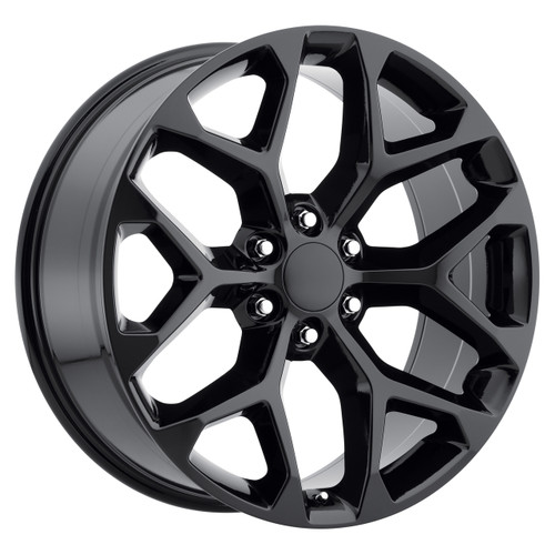 "24"" 2015 CK156 CK 156 Chevy Silverado GMC Sierra 1500 Cadillac Gloss Black Wheels Set of 4 24x10"" Rims"
