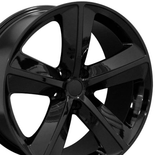 "20"" Fits Dodge Challenger SRT Wheel Rim Gloss Black 20x9"" Hollander # 2329"
