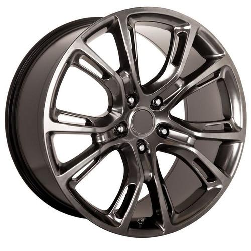 "20"" Fits Jeep Grand Cherokee Dodge Durango SRT8 SRT 2013-14 Style Wheels Hyper Silver Dark Set of 4 20x10"" - Hollander 9113"