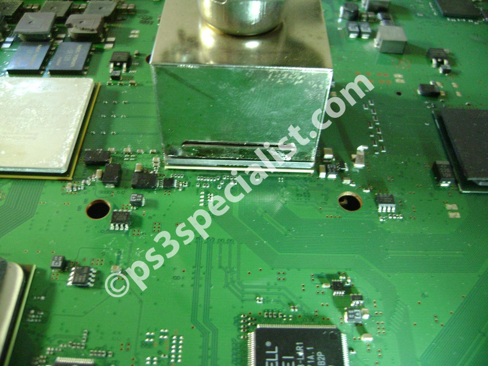 Soldering the graphics chip