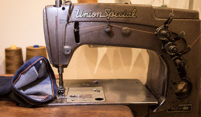 Chain stitch hemming & jeans alterations on Union Special sewing machine