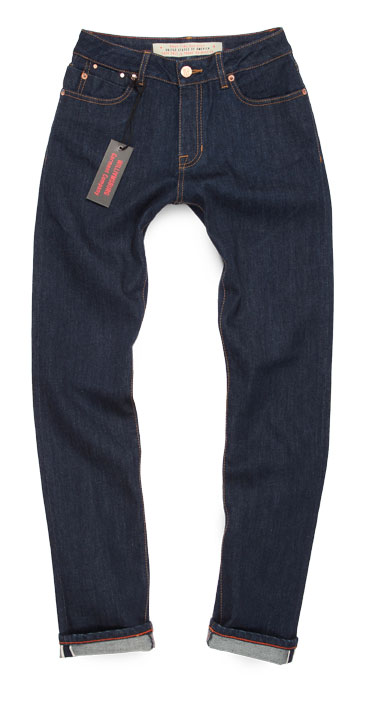 Women's Driggs Ave dark blue slim selvedge jeans