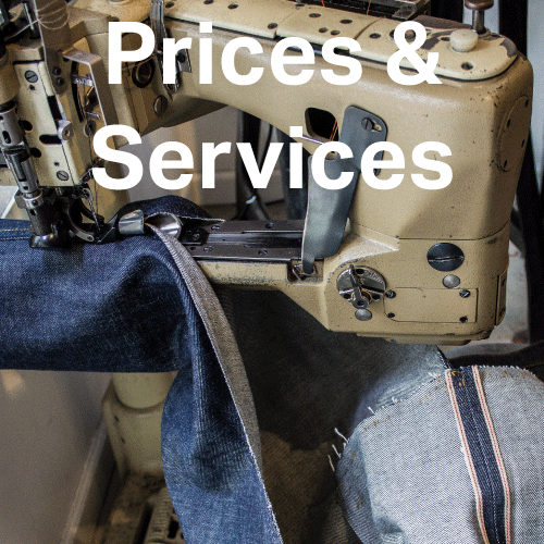 Denim alterations prices / cost & services