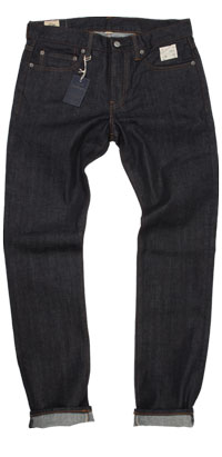 Fit of J. Crew 484 slim selvedge raw jeans made in China