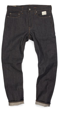 Fit of J. Crew 770 straight selvedge raw jeans made in China