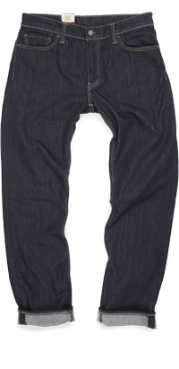 Fit of Levi's 504 regular straight fit jeans made in Turkey