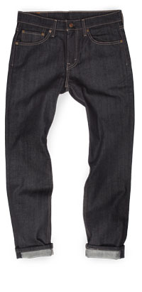 Fit of Levi's 511 men's slim jeans made in Mexico