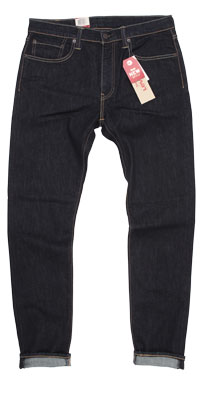 Compare men's Levi's slim tapered vs. skinny S. 4th Street jeans