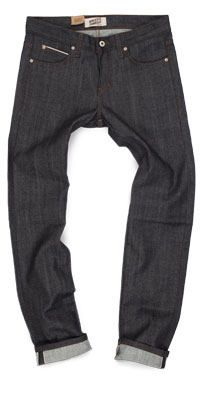 Fit of Naked & Famous raw denim skinny jeans made in Canada