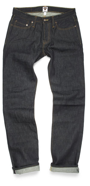 Tellason John Graham Mellor slim-straight raw selvedge jeans made in USA