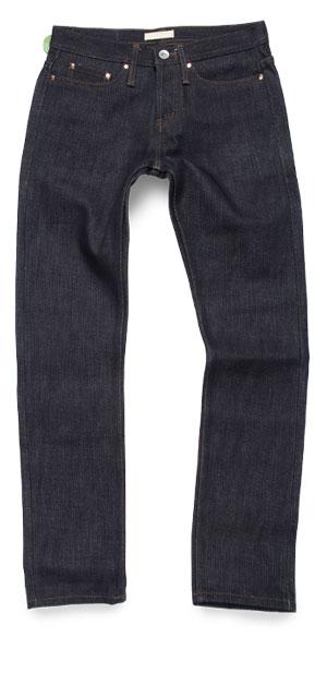21-oz. selvedge raw denim tapered Unbranded jeans