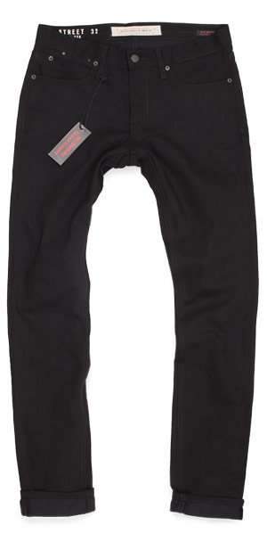 Fit guide: Hope Street slim tapered black American made jeans