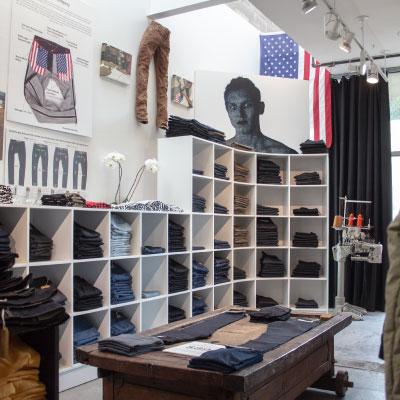 Raw denim jeans store Williamsburg Garment Co.