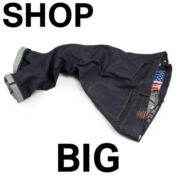 Button to shop big mens big & tall jeans