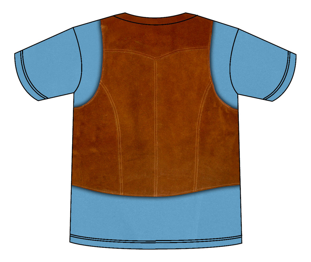 Faux Real Toddler 1970's Vest - Back View