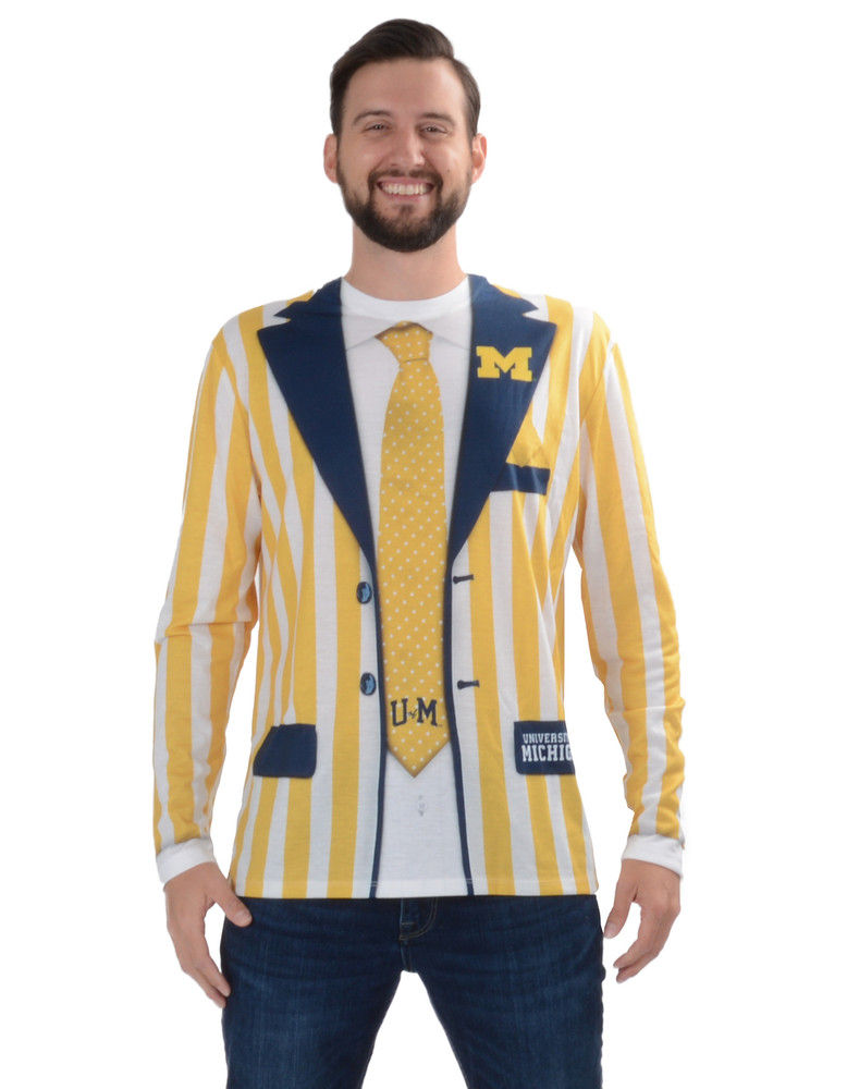 University of Michigan Striped Suit Tee