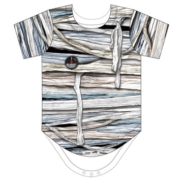 Faux Real Infant Mummy Romper - Front View