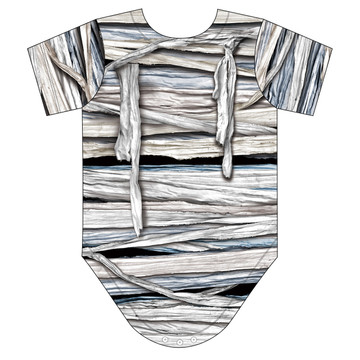 Faux Real Infant Mummy Romper - Back View