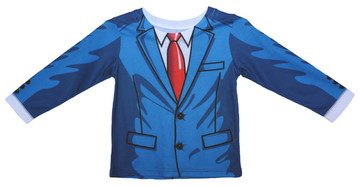 Faux Real Toddler Cartoon Suit - Front View