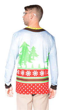 Faux Real Santa on Break Sweater T-Shirt - Back View