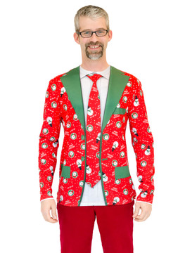 Red Xmas Matching Suit & Tie