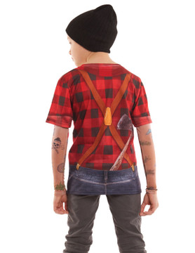 Youth Lumberjack Tattoo Tee w/ Mesh Sleeves