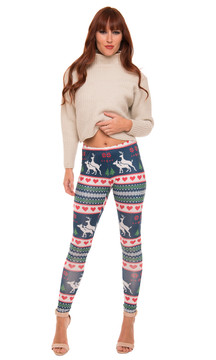 Humping Deer Xmas Leggings