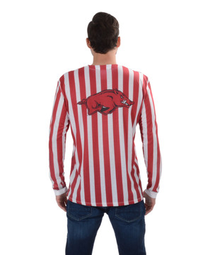 Arkansas Razorback Striped Suit Tee