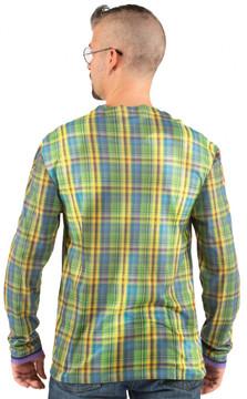 Faux Real Plaid Suit Back View